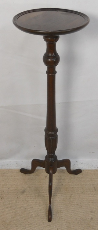 Sold Mahogany Torchere Tall Plant Stand